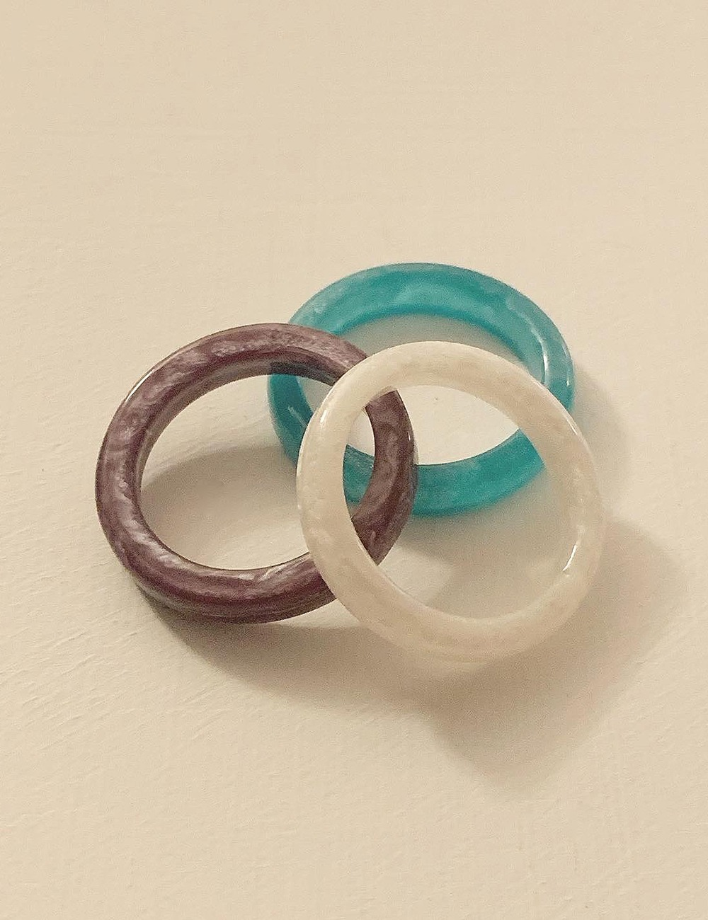 (vintage) Acrylic marble ring
