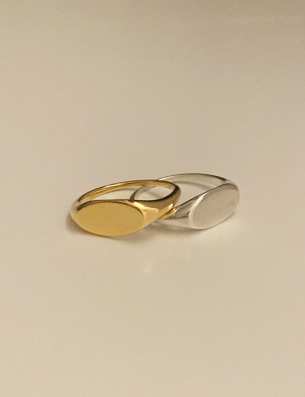 (silver 92.5) Oval flat ring
