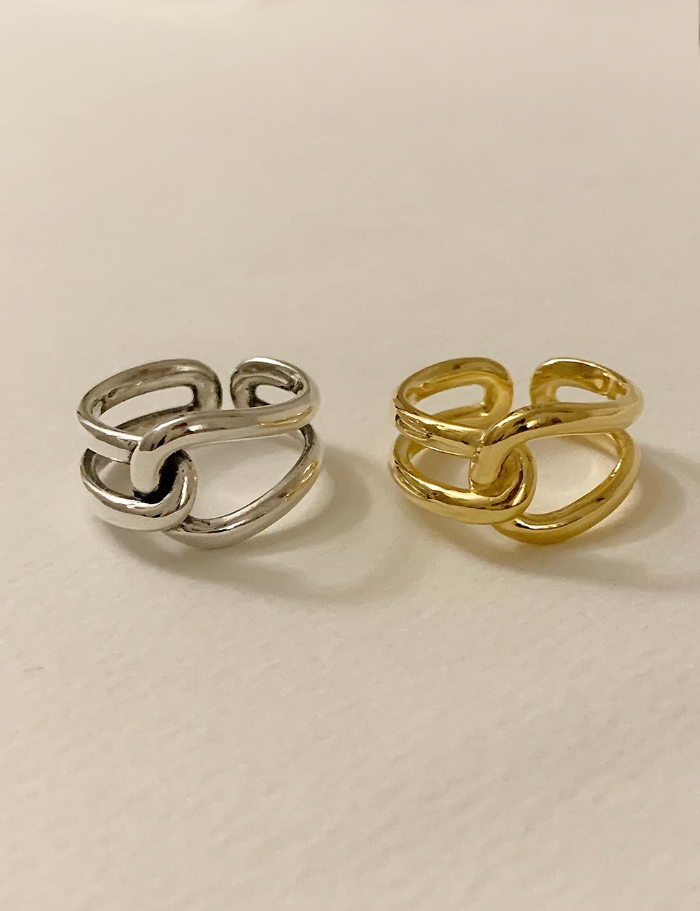 (silver 92.5) Rope ring