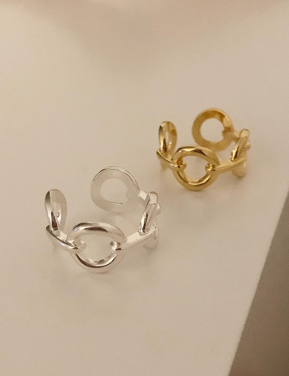 (silver 92.5) Circle chain ring