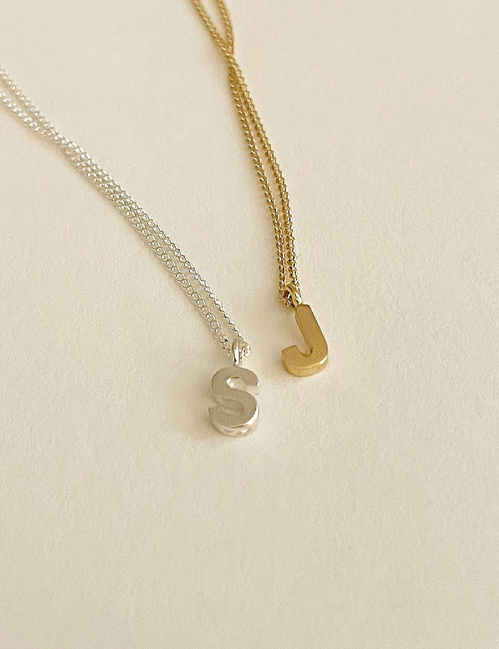 (silver 92.5) Initial necklace