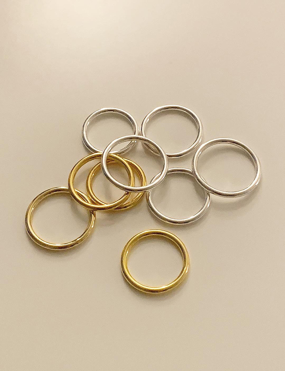 (silver 92.5) Daily ring / 2mm