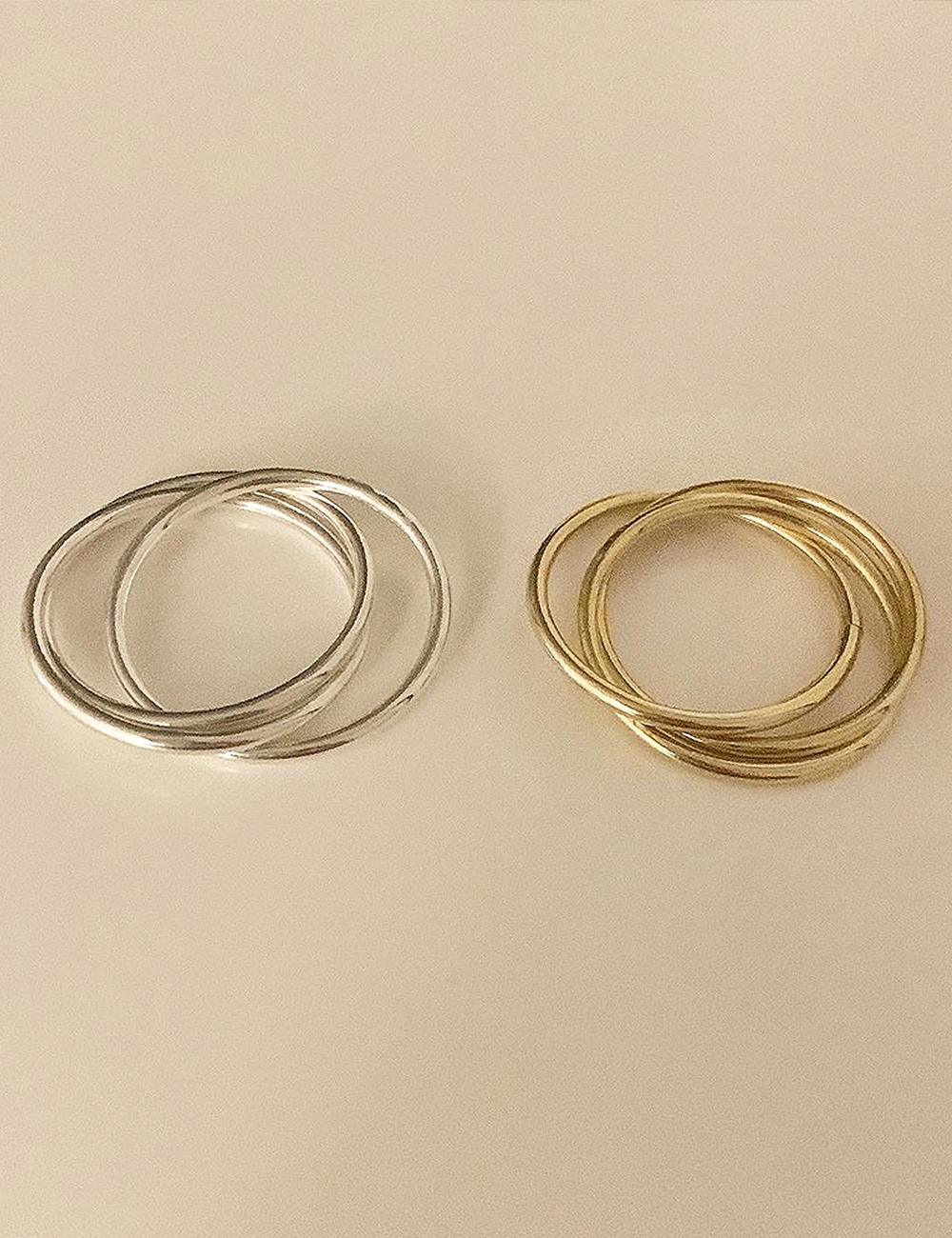 (silver 92.5) Three chain ring