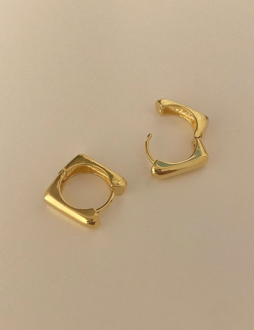 (silver 92.5) Shape square earring