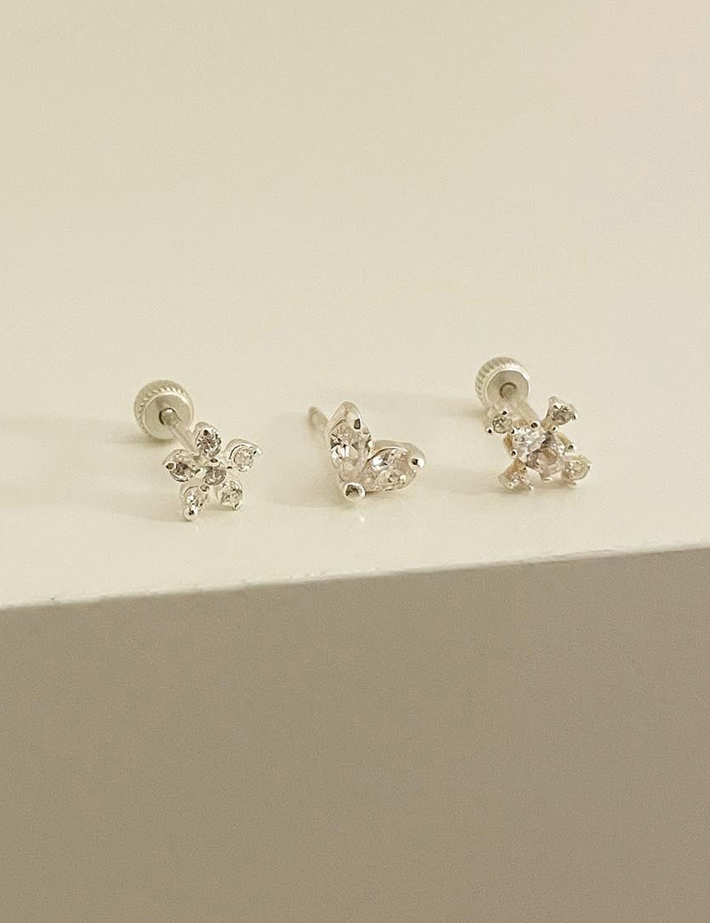 (silver 92.5) Cubic piercing 3type