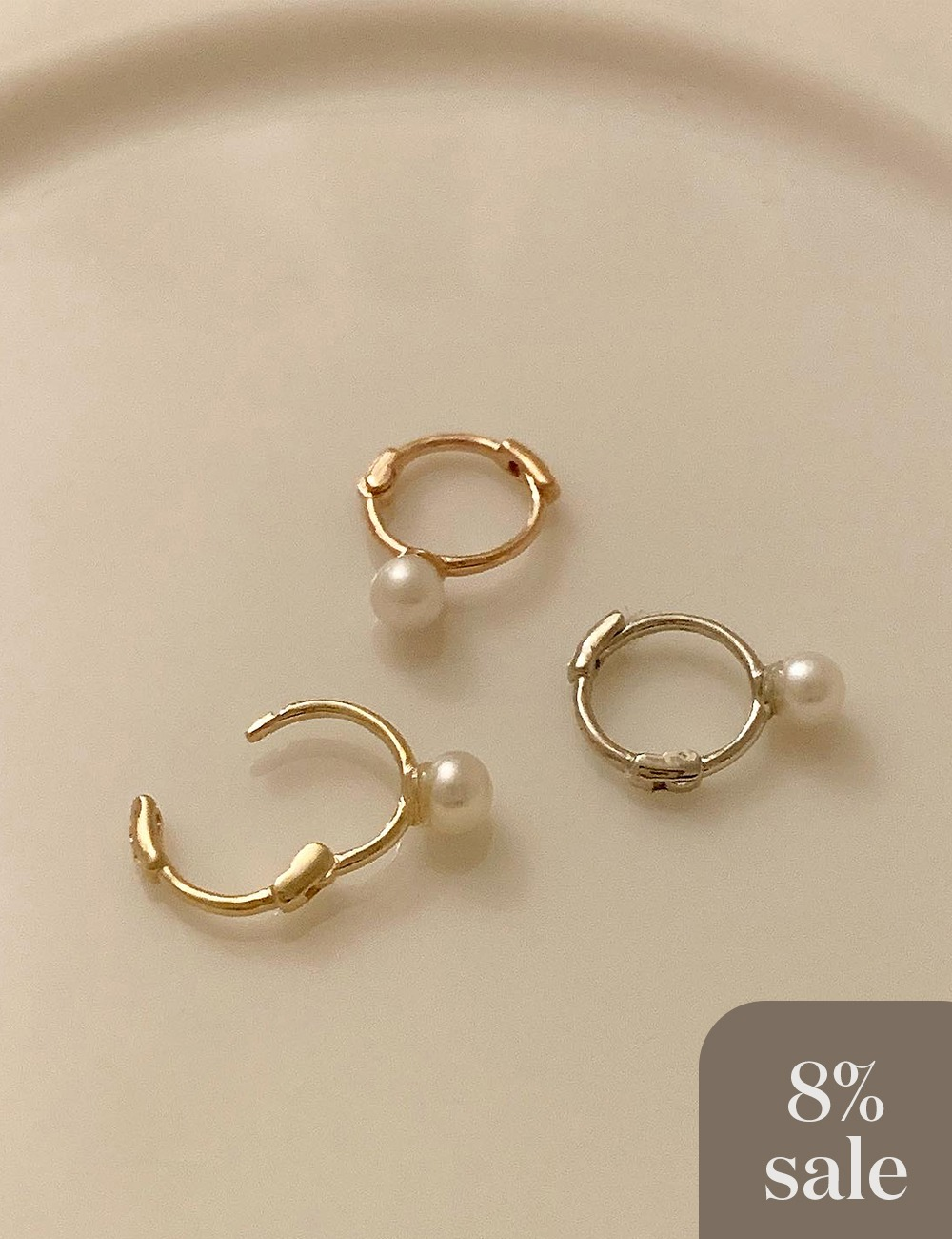 (14k gold) Pearl mini earring / 1ea
