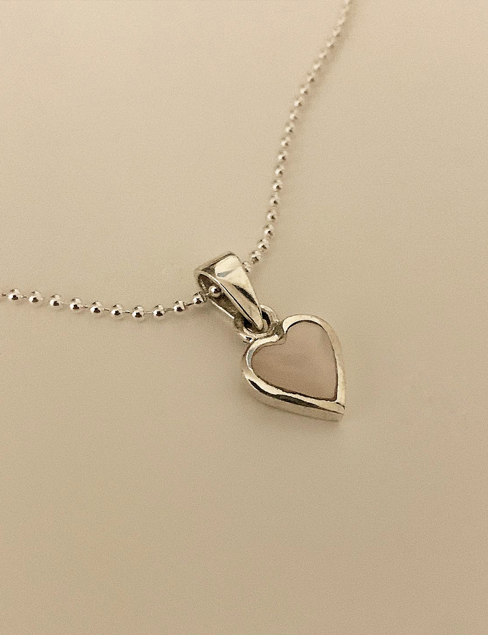 (silver 92.5) Onyx heart necklace