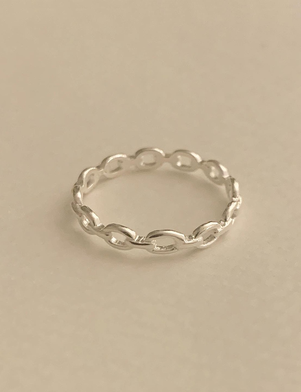 (silver 92.5) Meam chain ring