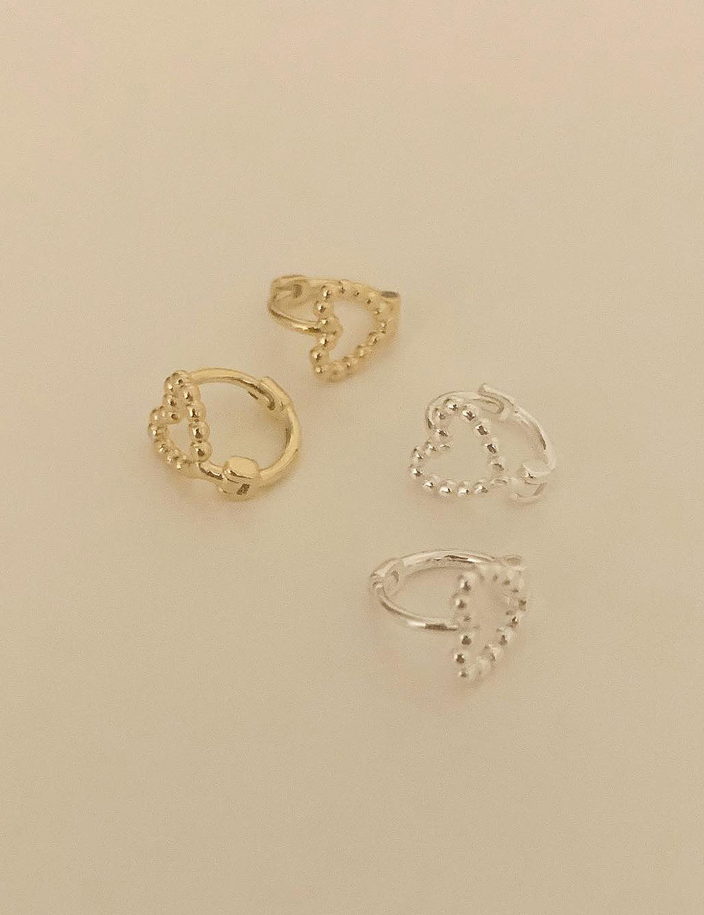 (silver 92.5) Luv line earring