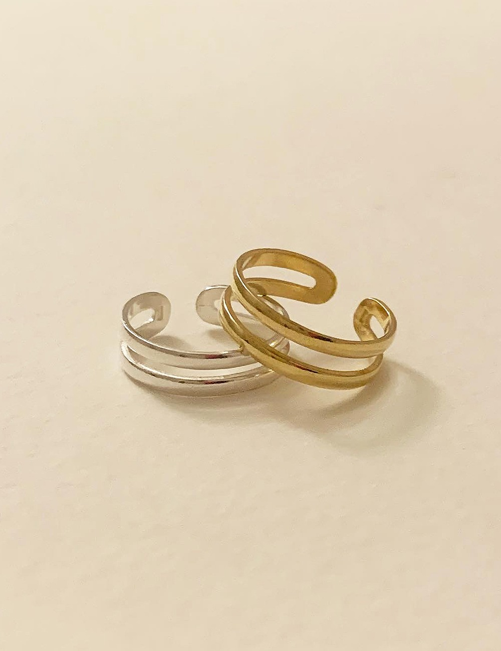 (silver 92.5) Small two line ring