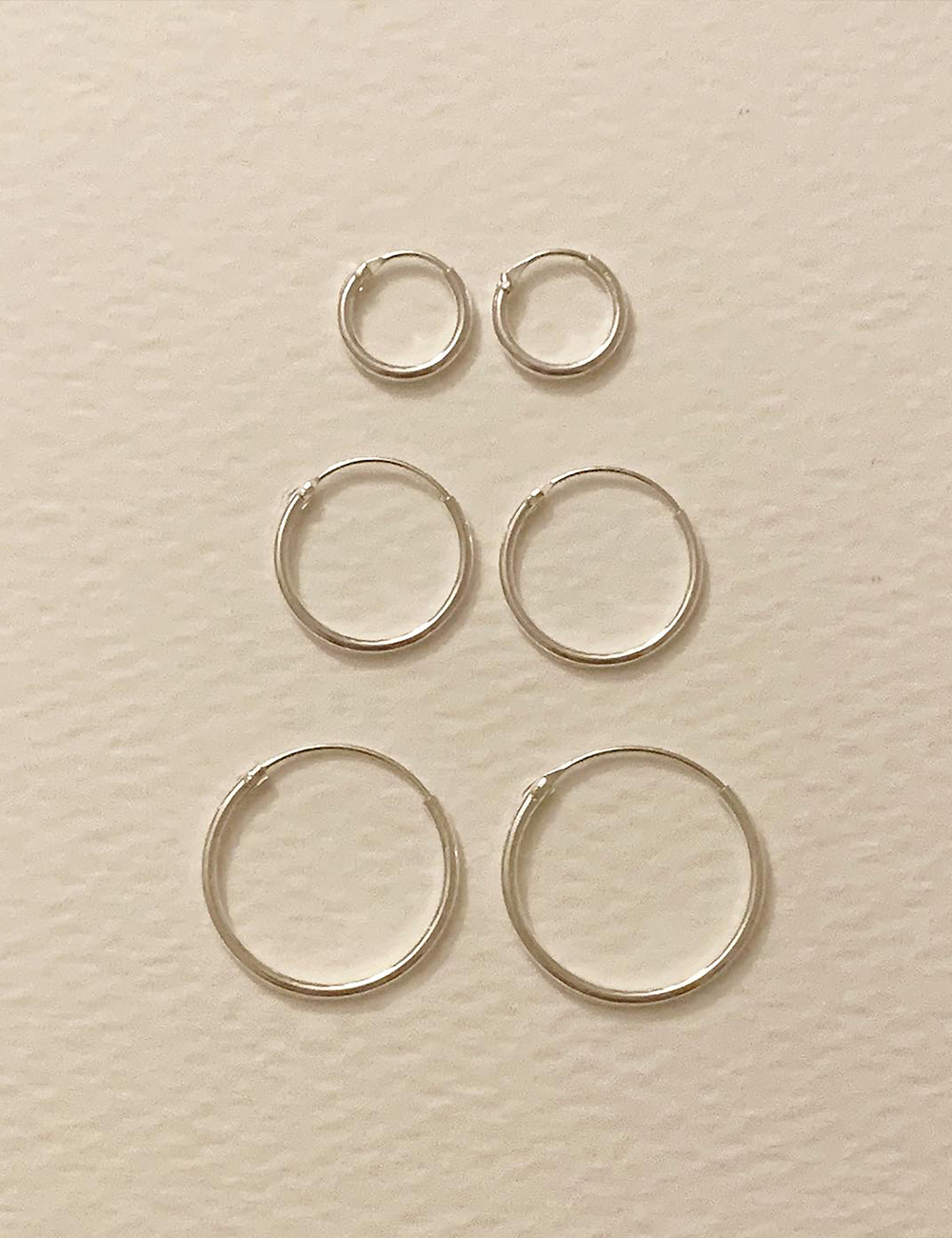 (silver 92.5) Pipe earring / 12mm,15mm,18mm