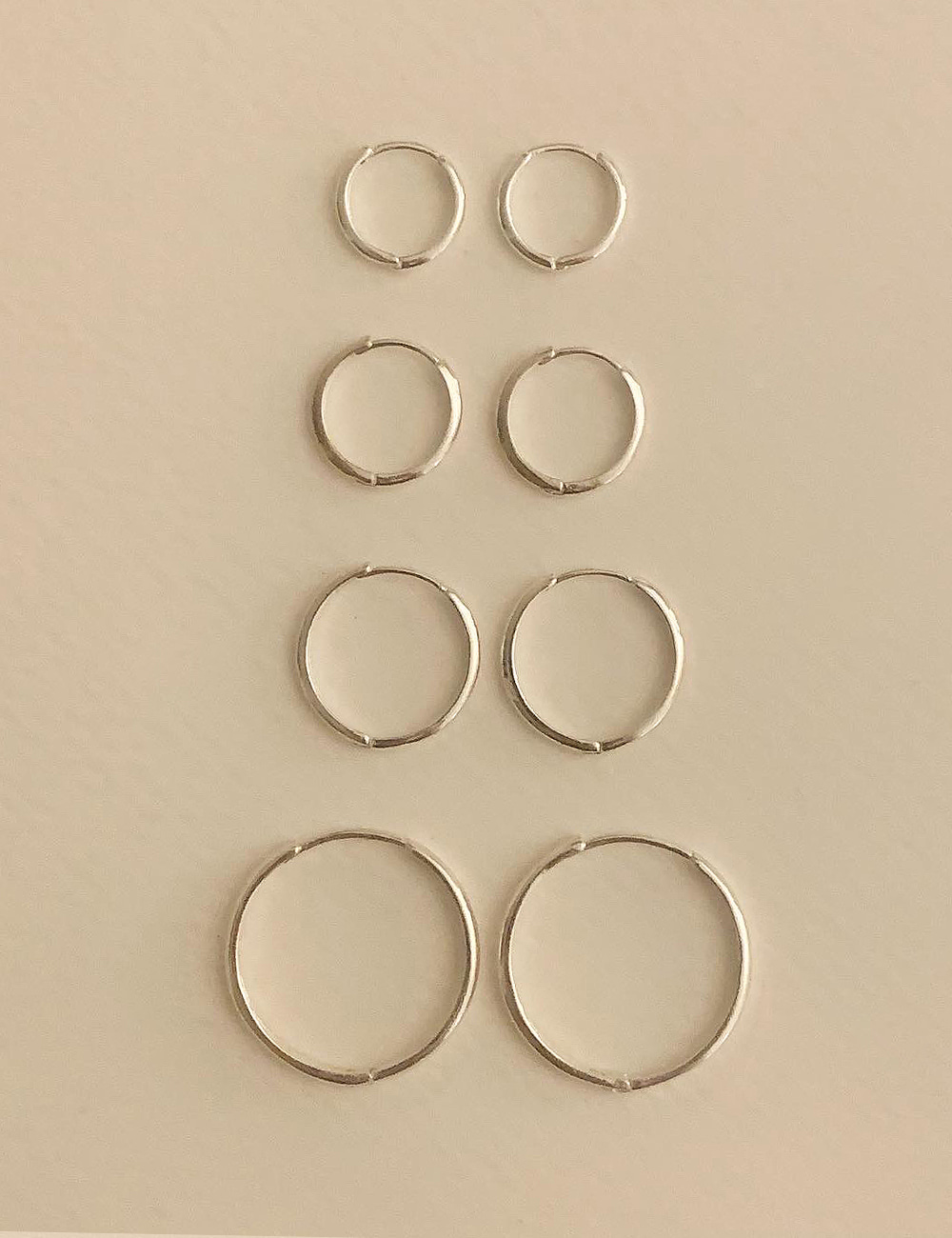 (silver 92.5) Daily ring earring