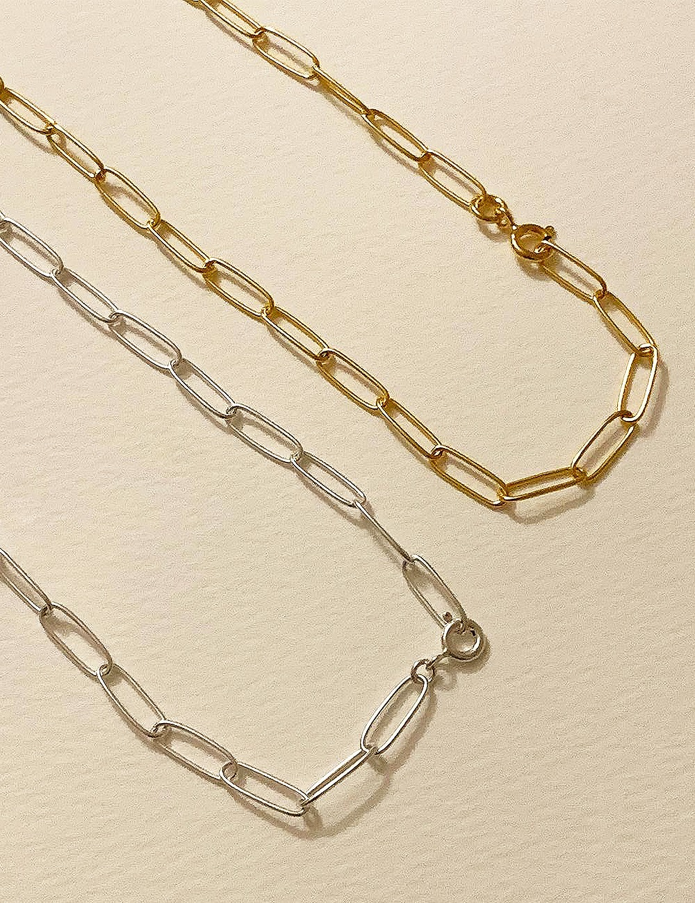 (silver 92.5) Angle chain necklace