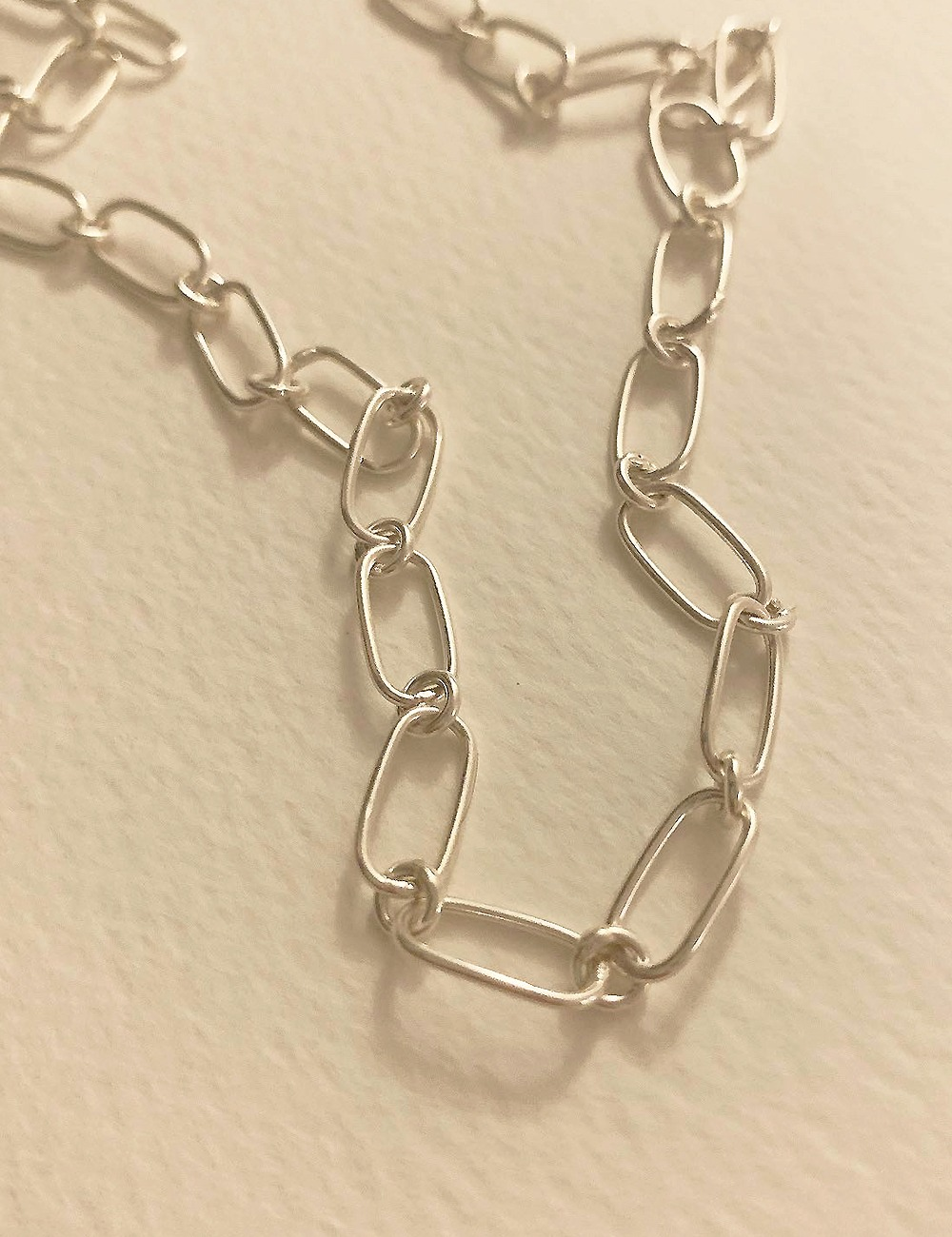 (silver 92.5) Double chain necklace
