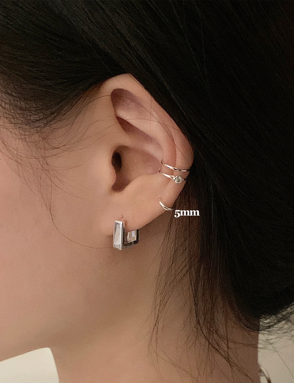 (silver 92.5) Mini small 5mm earring