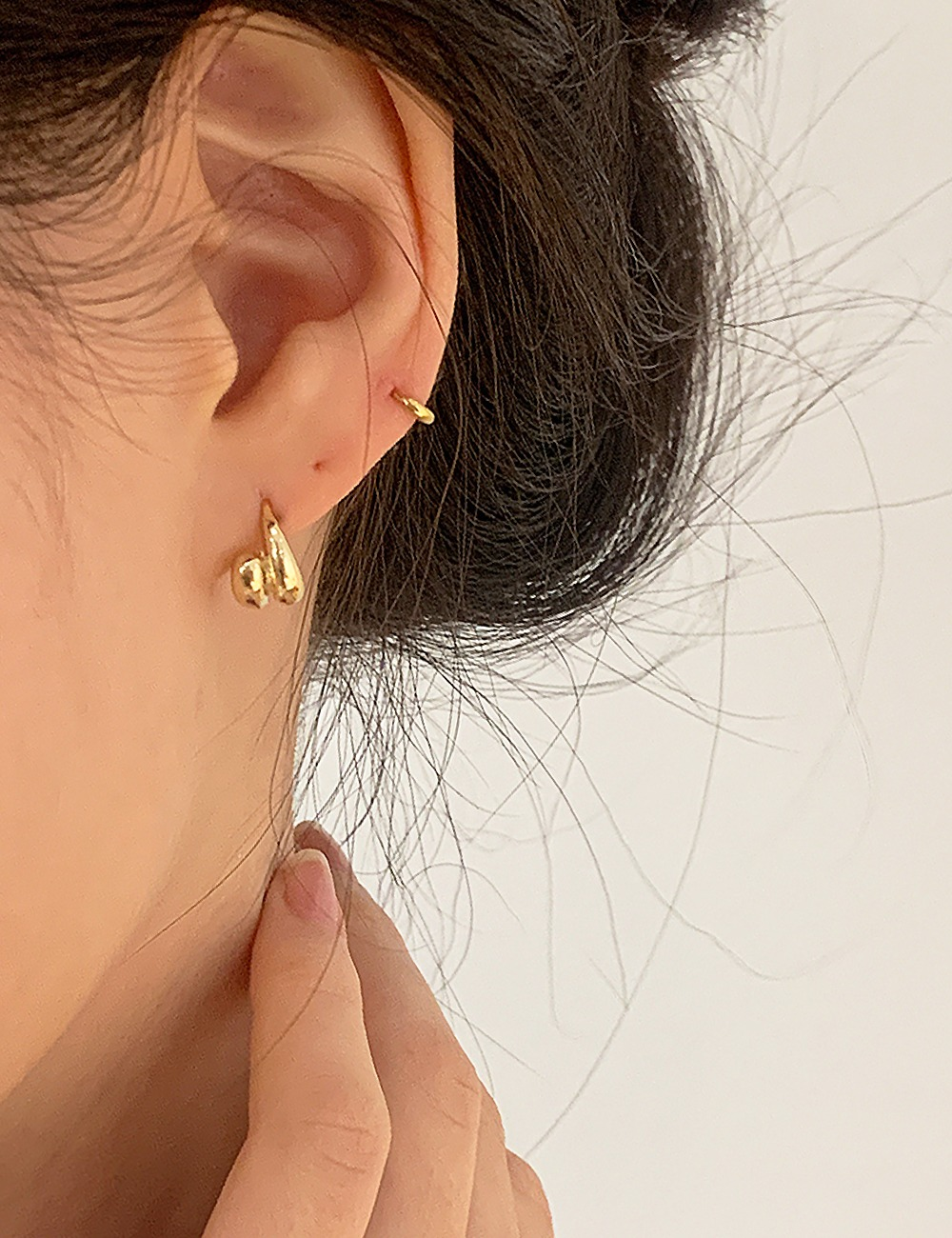 (silver 92.5) Decal earring