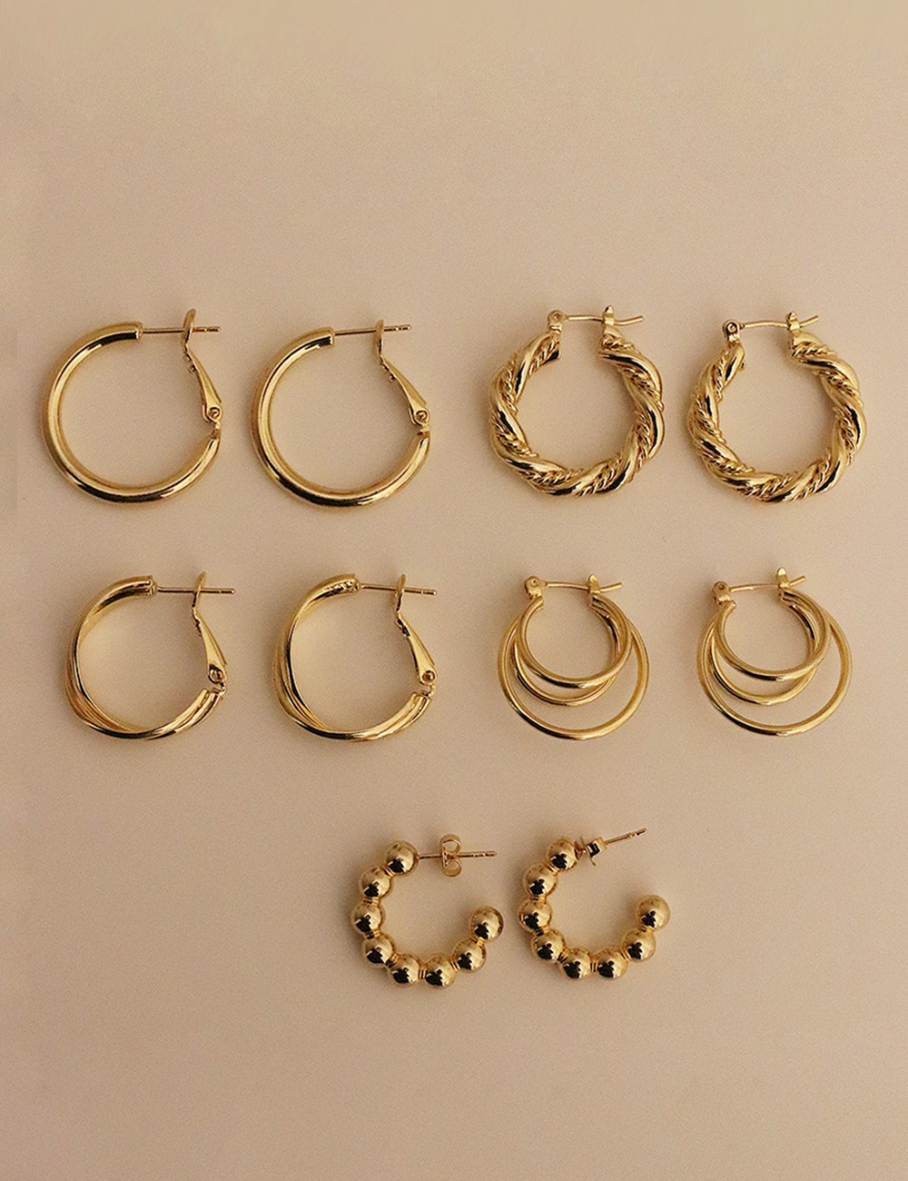 Vintage gold earring collection