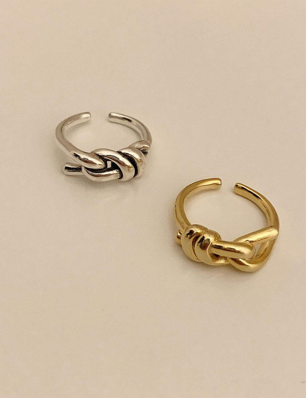 (silver 92.5) Antique knot open ring
