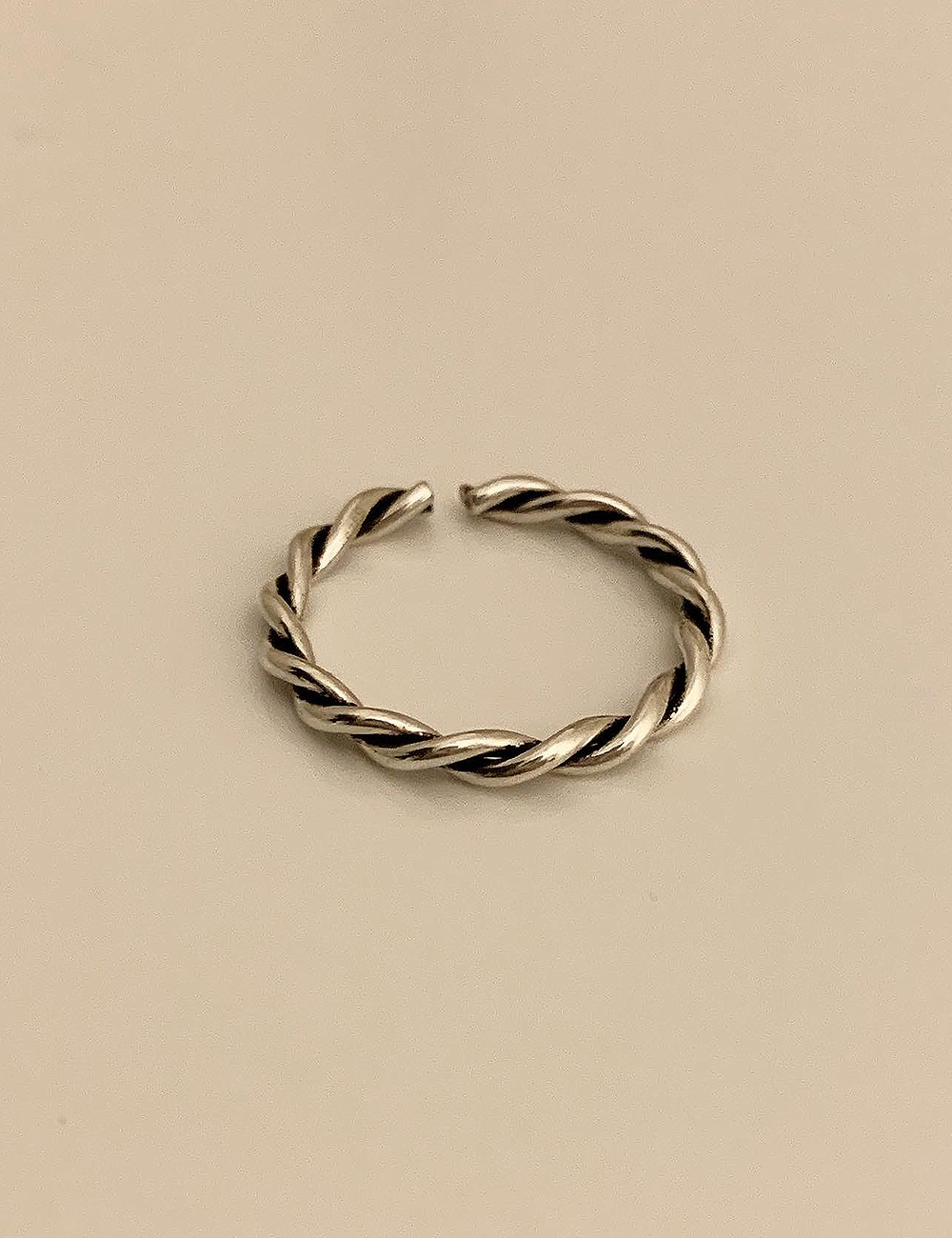 (silver 92.5) Antique twist open ring
