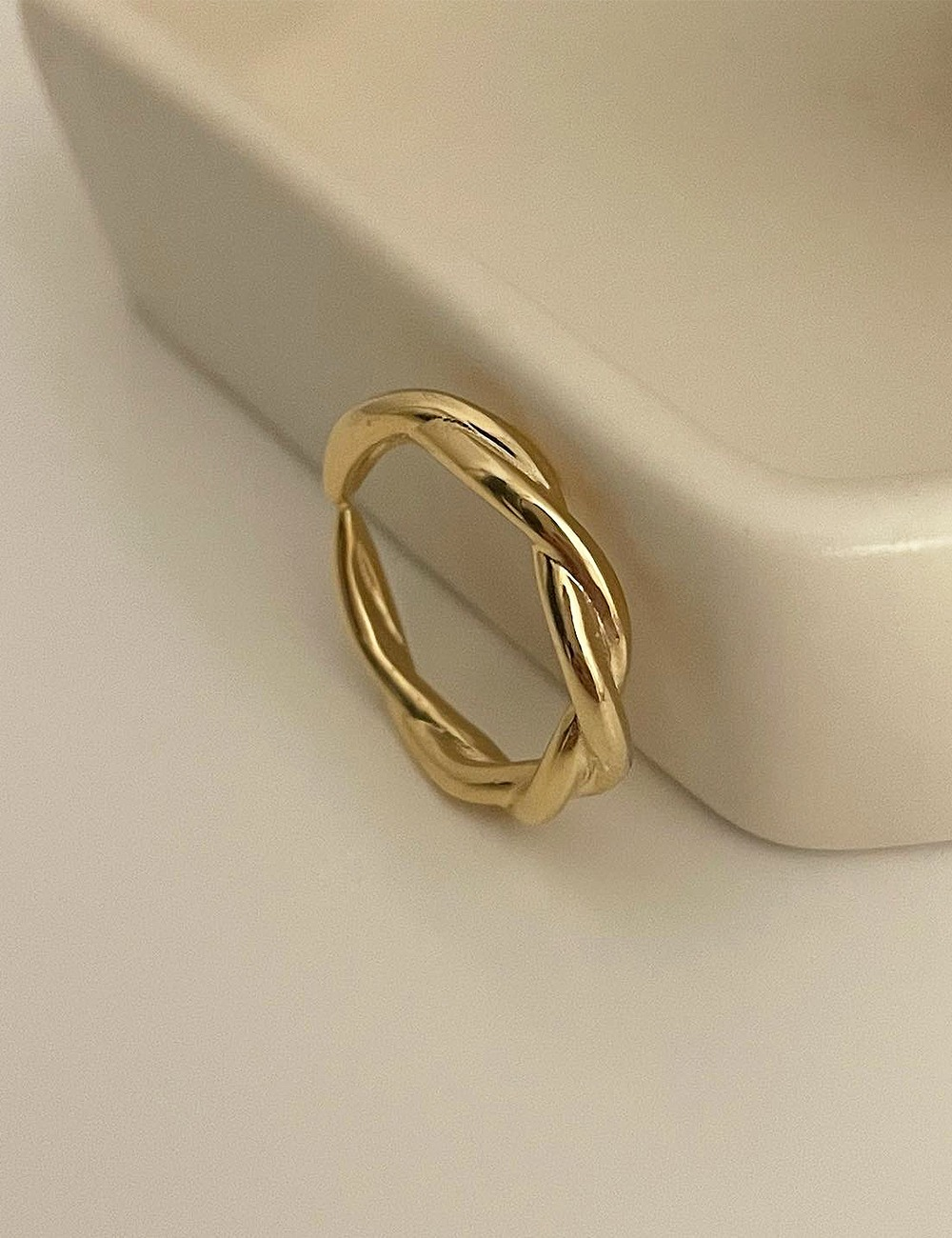 (silver 92.5) Twist open ring