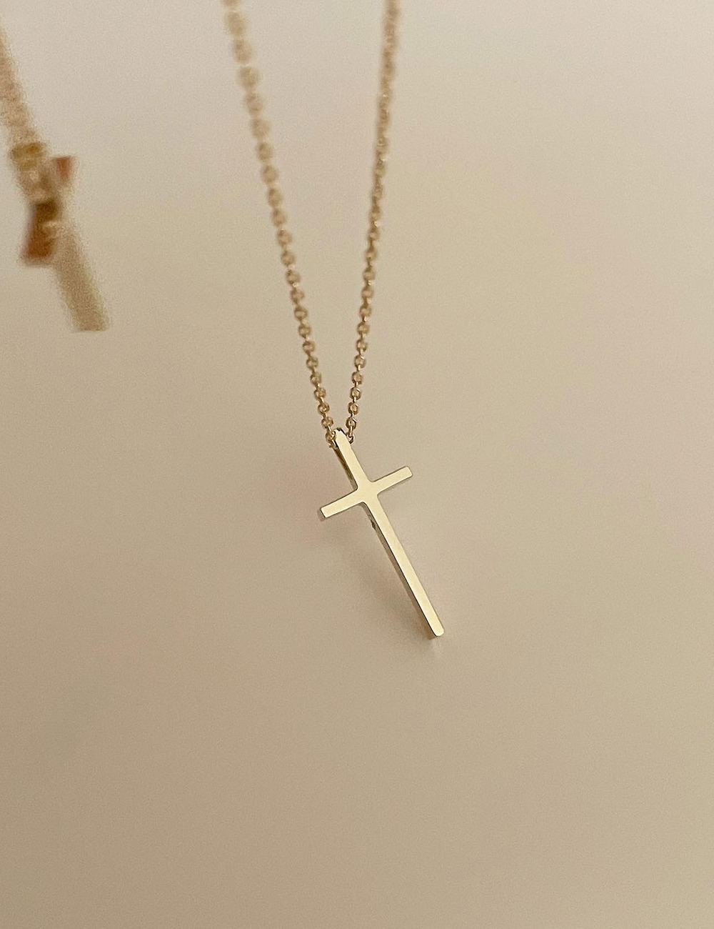 (14k gold) Cross necklace
