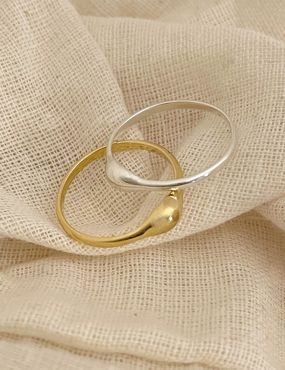 (silver 92.5) Simple volume ring
