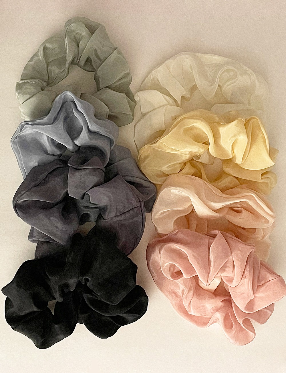 Silky hair scrunchie