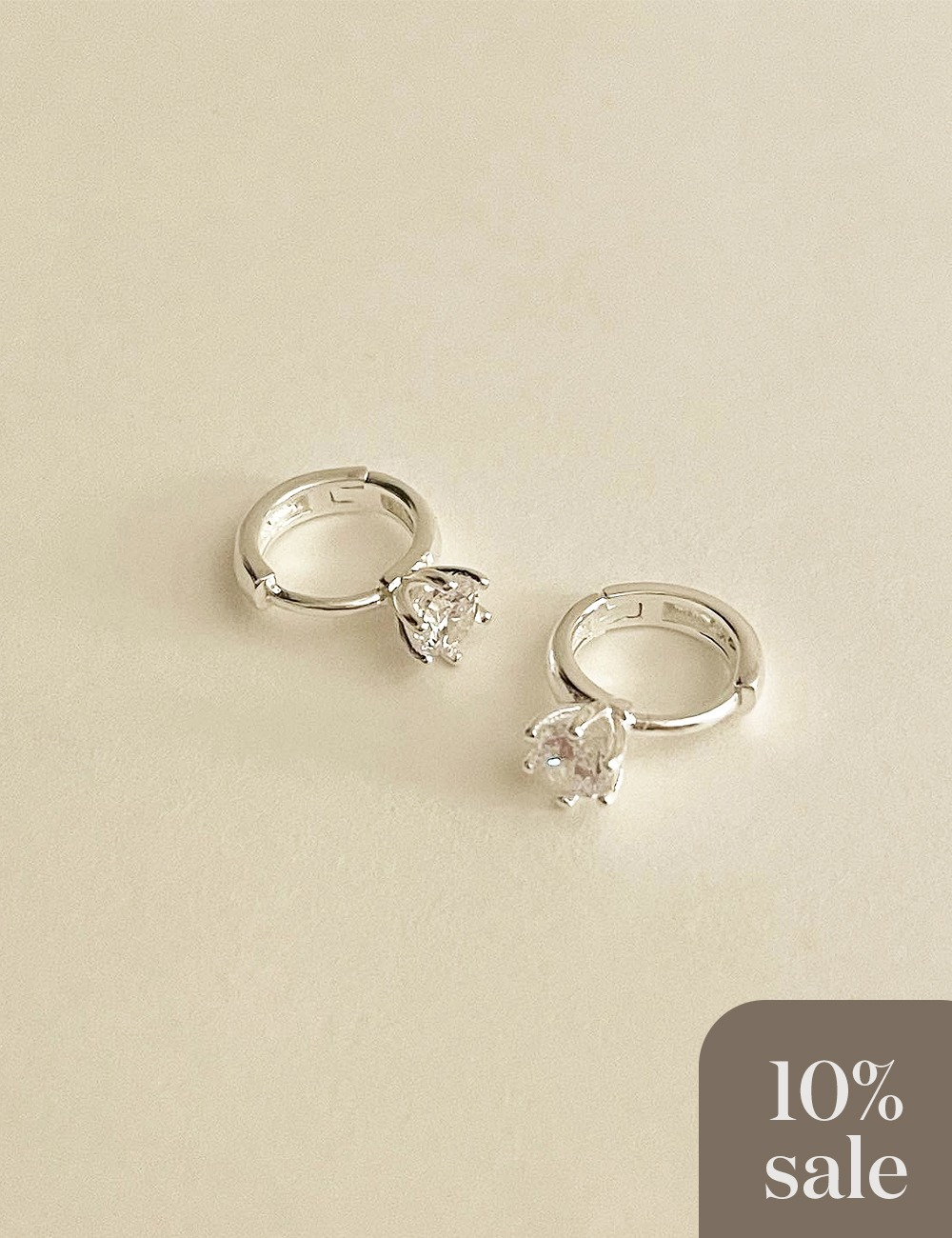 (silver 92.5) Crown cubic earring