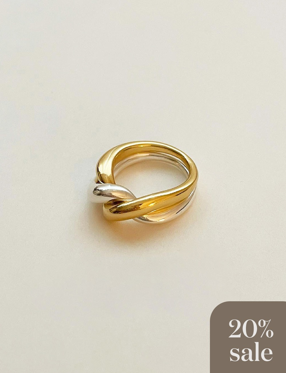 (silver925) Combi chain bold ring