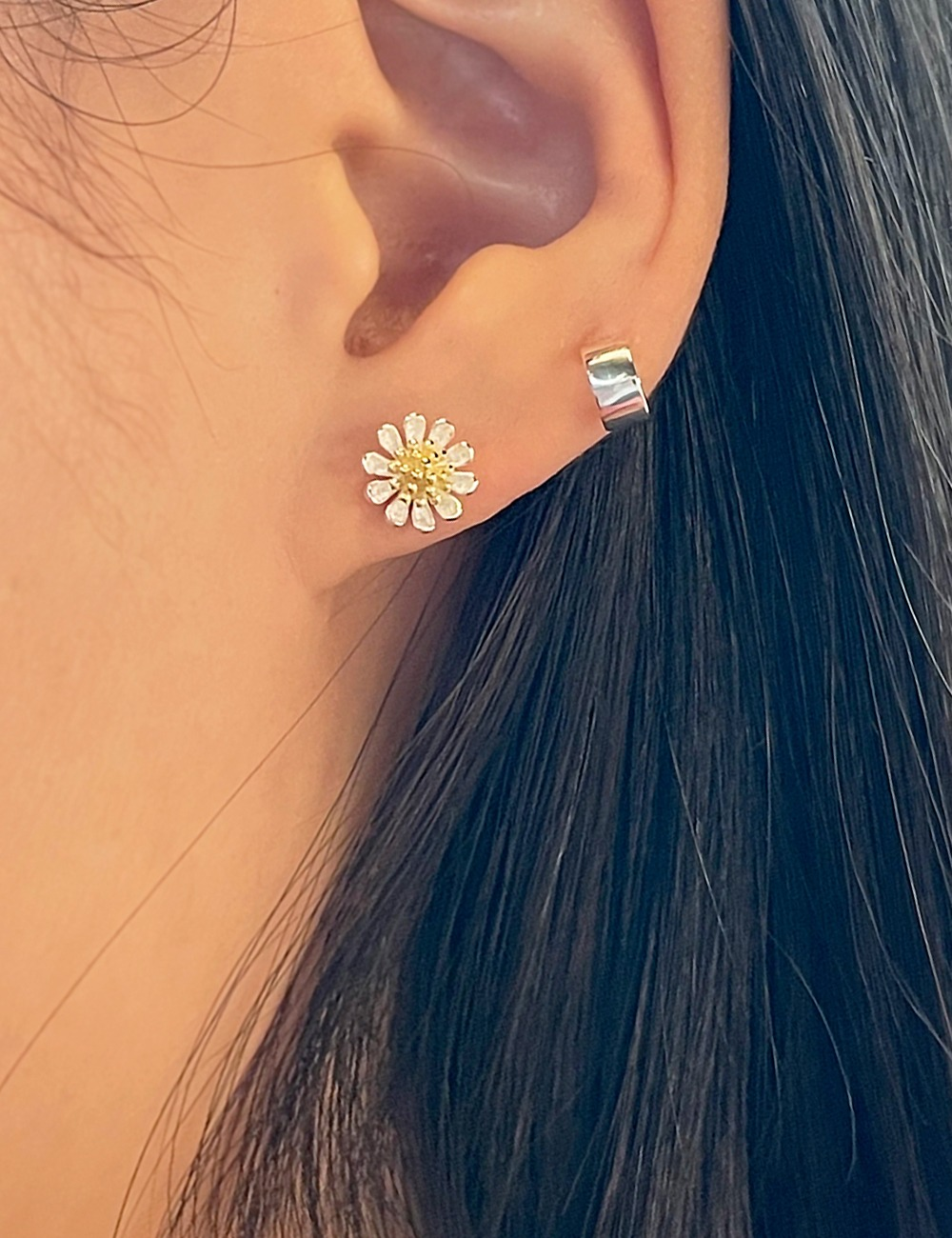 (silver 92.5) Flower earring