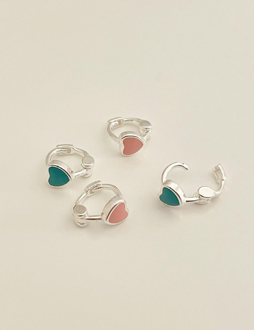 (silver925) Lovely heart earring *1개 제품