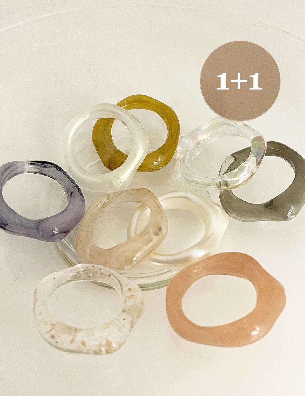 (1+1) Formica Acrylic ring *9color