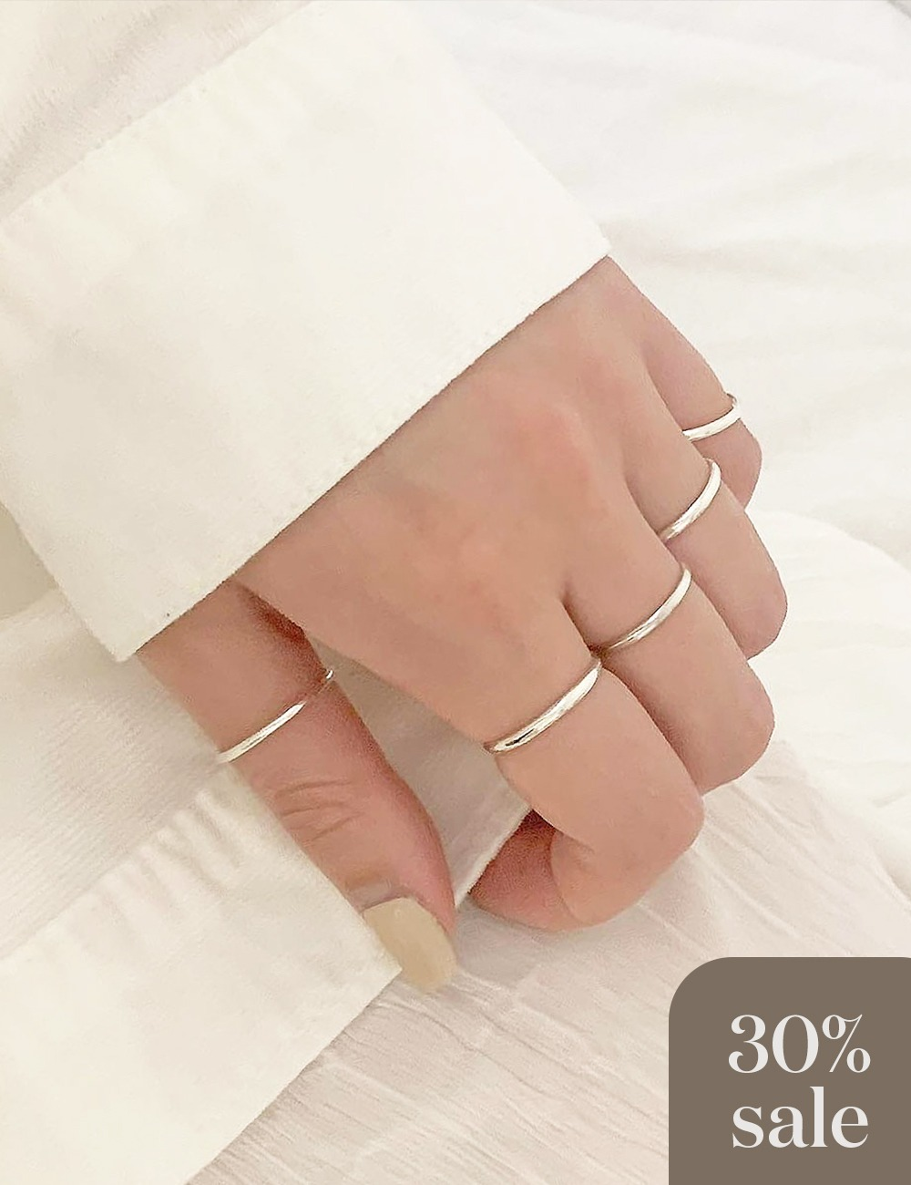 (silver 92.5) Daily ring / 1.5mm