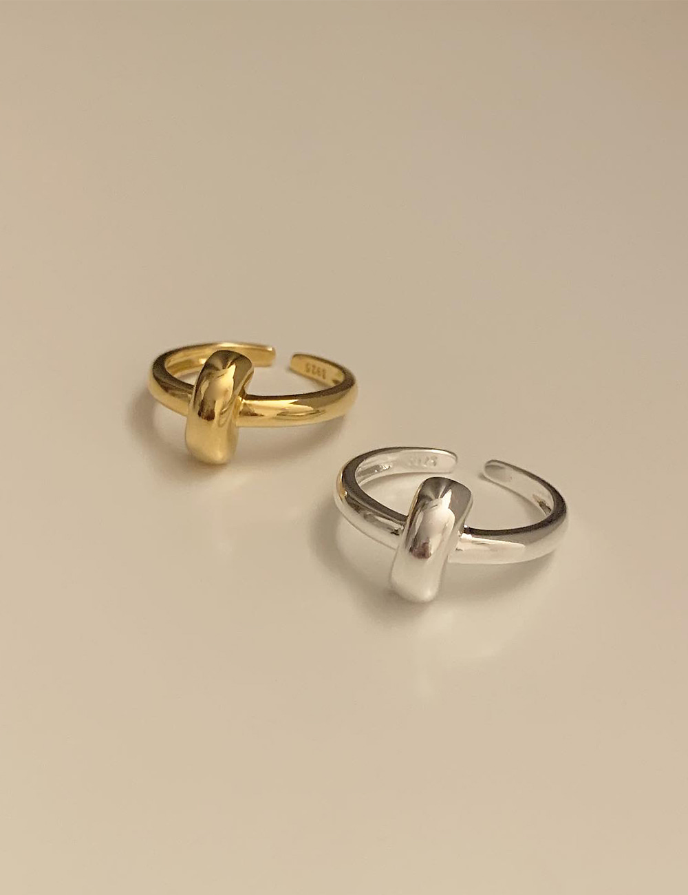 (silver 92.5) Cross ring