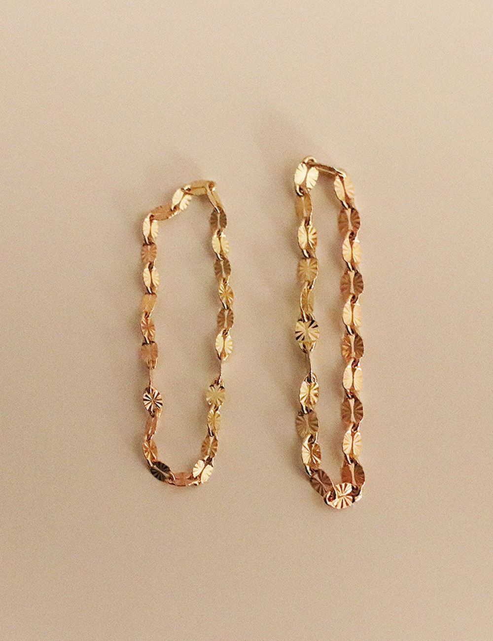 (14k gold) Cutting chain ring