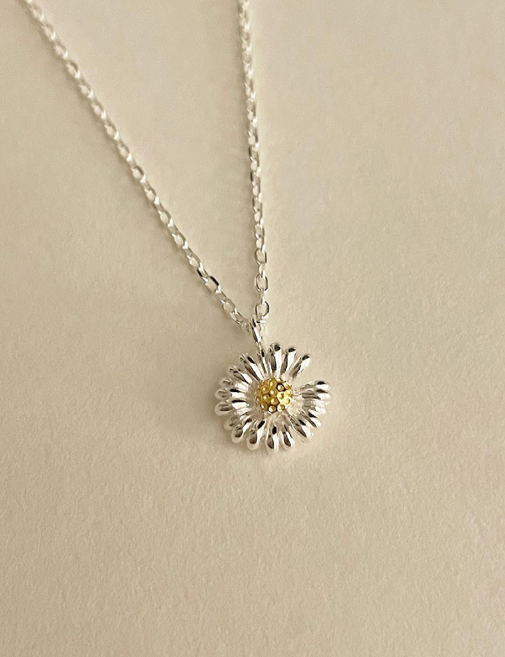 (silver 92.5) Flower necklace
