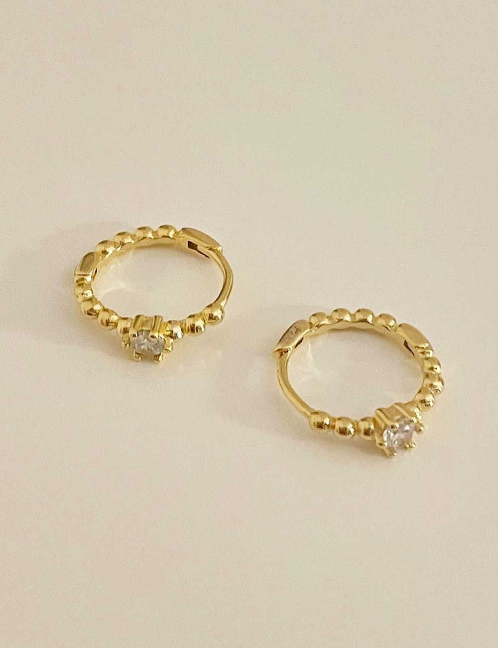(silver 92.5) Dote cubic onetouch earring